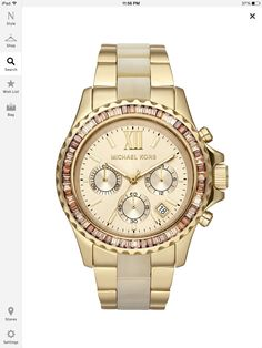 Micheal Kors Gold watch with crystal
