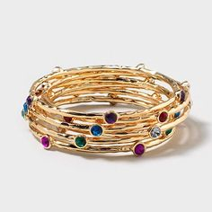 Gimme Gems Bangle Bracelet from Claire's
