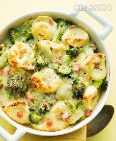 Creamy Tortellini and Broccoli Bake #recipe