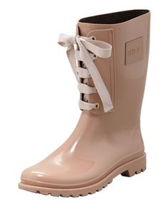 RED Valentino Lace-Up Rain Boot