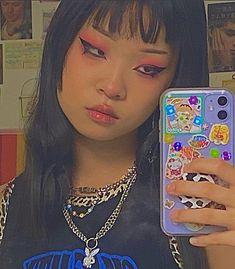 Aesthetic Phone Case, Indie Kids, Aesthetic Girl, Makeup Inspo, Powder Room, Pretty People, Pretty Girls, Makeup Looks, Alternative