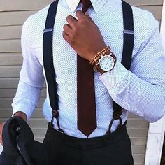 Super sharp suspender style from @sophisticatedsir  Check out his sophisticated style @sophisticatedsir by stylishmanmag