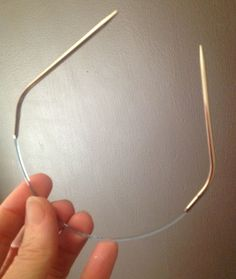 """Addi turbo 12"""" needles, must be with the bend in it and a sock pattern using this circular needle."""