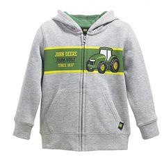 John Deere Farm Built Zip Fleece - Sweatshirts & Hoodies - Kid's & Baby   RunGreen.com