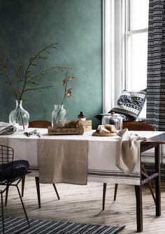 Farbe Grau, Grün, Braun - Wohnen und einrichten mit Naturfarben | LIVING AT HOME