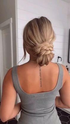 Hairdo For Long Hair, Bun Hairstyles For Long Hair, Work Hairstyles, Casual Updos For Long Hair, Long Hair Video, Simple Hairstyles, Updo Hairstyle, Everyday Hairstyles, Medium Hair Styles