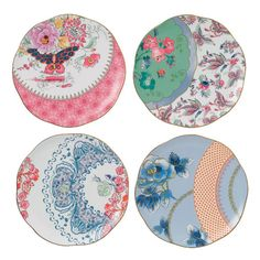 """Found it at Wayfair - Harlequin Butterfly Bloom 8.25"""" Plate"""