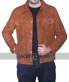 """http://www.ebay.com/itm/X-Men-Wolverine-3-Logan-Hugh-Jackman-Suede-Leather-Jacket-in-All-Sizes/252806416858  Famous Hollywood actor Hugh Jackman seen this dashing jacket in the movie """"Logan""""  #HughJackman #dashing #Logana"""