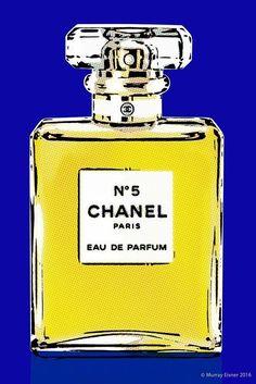 CHANEL No. 5 PERFUME #3 /21x14 POP ART GICLEE PRINT Cotton Watercolor / Eisner #PopArt