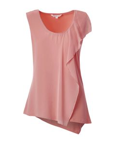 Perfect little details make this top a must have in every colour! Featuring a silver beaded trim detail and a ruffled asymmetrical layer that flatters your shape, t Beaded Trim, Work Wardrobe, Peonies, Spring Summer, Color, Tops, Women, Fashion, Moda
