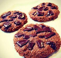 Receita de cookies de Chocolate baixo Carboidrato