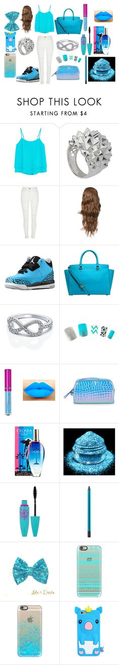 """""""Just have a blue day"""" by keke554 ❤ liked on Polyvore featuring MANGO, Stephen Webster, River Island, Michael Kors, Accessorize, ESCADA, Maybelline, MAC Cosmetics, Casetify and women's clothing"""