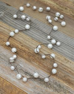 Faceted Pearl Lariat Necklace
