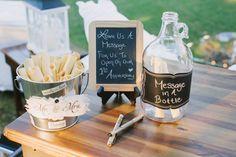 "Guestbook alternative- ""message in a bottle"" Diy Wedding Dj, Wedding Ideas, Bridal Shower, Baby Shower, Wedding Planning Checklist, Message In A Bottle, Guest Book Alternatives, Make It Simple, Real Weddings"