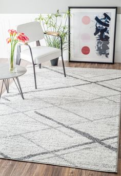 Shop AllModern for Mercury Row Azha Broken Lattice Light Gray Area Rug - Great Deals on all  products with the best selection to choose from!