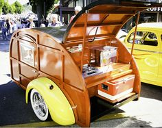 Vintage Wooden Camping Trailer    Great unless you got termites or carpenter ants!