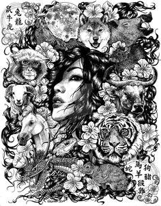 Zodiac Circle of Animals by LKBurke29 on DeviantArt