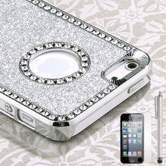 Pandamimi iphone 5 case - Deluxe Sliver Diamond Rhinestone Glitter Bling Chrome Hard Case Cover for Apple iPhone 5 5G , Screen Protector and Stylus by Pandamimi, http://www.amazon.com/dp/B009IJD9HU/ref=cm_sw_r_pi_dp_PxZwrb1APQZG9