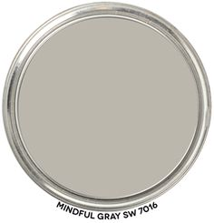 Paint Blob Mindful Gray 7016 by Sherwin-Williams Get all the details about this color's hue family, value, chroma and LRV. Includes paint blob to swipe. Objective, accurate info from a Color Strategist! Grey Paint Colors, Bedroom Paint Colors, Exterior Paint Colors, Paint Colors For Home, Neutral Paint, Gray Paint, House Colors, Exterior Design, Room Colors