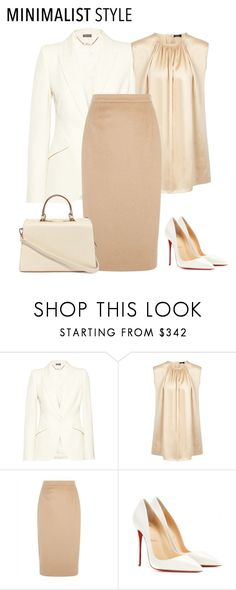 """""""outfit 2778"""" by natalyag ❤ liked on Polyvore featuring Alexander McQueen, Joseph, Jaeger, Christian Louboutin and Nila Anthony"""
