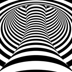 That is a sweet abstract black and white psychedelic image.