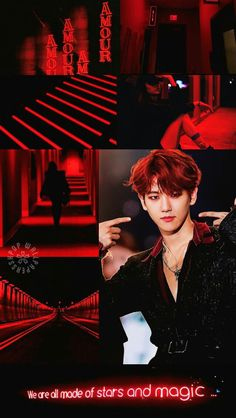 Our social Life Couple Aesthetic, Aesthetic Collage, Red Aesthetic, Kpop Aesthetic, Baekhyun, Girls' Generation Taeyeon, Kpop Backgrounds, Exo Lockscreen, Red Wallpaper