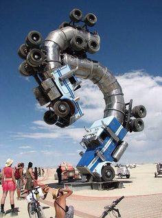 Artwork from Burning Man Festival