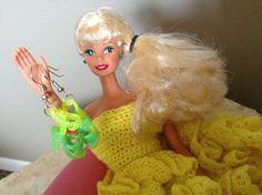 Lemon Lime Barbie Shoe Earrings by BeckyABoutique on Etsy, $9.00