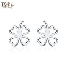 TANGKA 2017 new European and American fashion women's earrings creative gift Clover women earrings quality sales