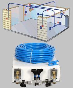 Compressed air hose garage plumbing