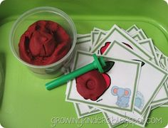 """Beginning Sounds Letter Stamping"" Apple Activity"