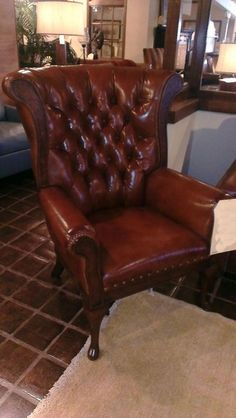 Chase Ryan Bandera Chair Crafted By U0026 Moore In Steeple Chase Brown Leather  With Mesa Finish.