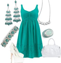 """""""totally teal""""  on Polyvore  POP the color!!!  contact me  liasophia.com/twl"""