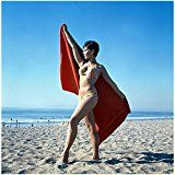 Get This Special Offer #6: Batman Yvonne Craig aka Batgirl Candid Beach Shot Holding Towel Open 8 x 10 Photo