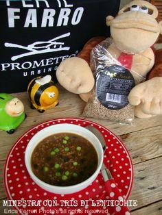 3 types lentils soup -- Minestra con tris di lenticchie