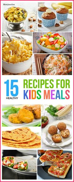 Top 15 Healthy Recipes For Kids Meals-Troubled with picky eaters at home? Looking for healthy recipes for kids? Check out our collection of 15 healthy and yummy kid-friendly recipes for your kid Vegetarian Meals For Kids, Kids Cooking Recipes, Dinner Recipes For Kids, Healthy Snacks For Kids, Baby Food Recipes, Healthy Dinner Recipes, Kids Meals, Easy Meals, Kid Recipes