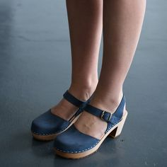 978 funkis clog high camilla navy suede, clog, clogs, Sweden, swedish, design, designer, fashion, shoes, shoe, wood, wooden, fashion, Scandinavian, funkis, funkis australia