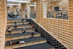 Library Interior by Suo Fujimoto