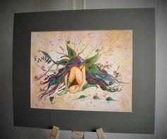 Faerie paintingfairy paintingfaerie by heARTofNatureStudio on Etsy