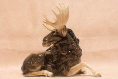 Large Vintage Hutschenreuther Germany Porcelain Moose Figurine K.Tutter #Realistic #Hutschenreuther