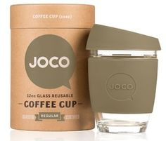 JOCO Glass Reusable Coffee Cup in Olive $29.99 - from Well.ca