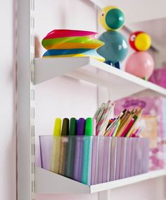 Long Narrow Elfa Craft Shelf
