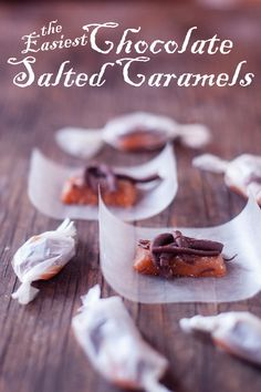 These chocolate salted caramels from scratch are easy, cheap, and take less than an hour of active kitchen time! Great for an edible gift this Valentine's Day! From EatingRichly.com