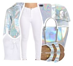"""""""This """" by pinksemia ❤ liked on Polyvore featuring GUESS, Topshop and Birkenstock"""