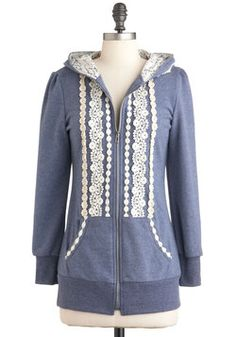 would be super easy to add lace applique to a hoodie
