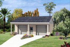 Elevation of Garage Plan 87863
