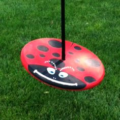 Red Lady Bug Wood Disc Swing Combo - Trying to decide if I want to go with a painted swing or natural.