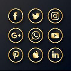 Luxury golden social media icon PNG and Vector Instagram Logo, Instagram White, Web Banner Design, Icon Design, Logo Design, Graphic Design, Design Design, Modele Flyer, Whatsapp Logo