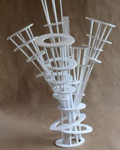 Clara Lieu, RISD Pre-College Design, Design Foundations course, Staircase Sculpture Assignment