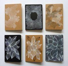 Six Moleskines ~ Ellen van de Sande  #doodle #pattern